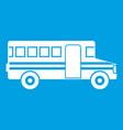school bus icon white vector image