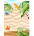 seaside beach azure waves sand coast vector image vector image
