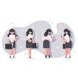 set cartoon businesswomen character design vector image