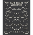 set hand drawn vignettes in retro style vector image