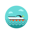 Ship Boat icon Summer Vacation vector image vector image
