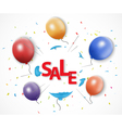 Shocked sale concept with burst balloon vector image vector image