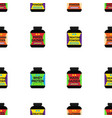 sport supplement nutrition seamless pattern vector image