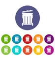 street container icon simple style vector image vector image