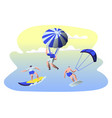 summer time water leisure sports activity surfing vector image vector image