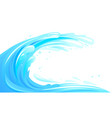 surfing wave isolated vector image vector image