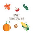 thanksgiving set isolated background vector image vector image