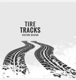tire tracks mark in perspective vector image vector image