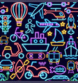 transport seamless pattern vector image vector image