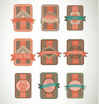 Vintage label style with nine design element vector | Price: 1 Credit (USD $1)