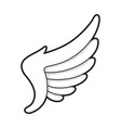 wing icon bird or angel freedom design vector image vector image