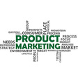 word cloud product marketing vector image vector image