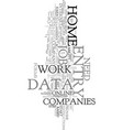 work at home data entry text word cloud concept