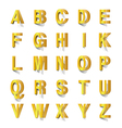 golden abc cut out of paper vector image