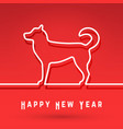dog - chinese symbol new year vector image