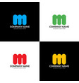 letter m logo icon flat vector image