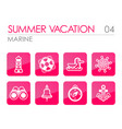 marine outline icon set vector image