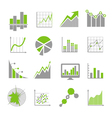 Data analysis signs and financial business vector image