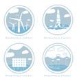 set of alternative and renewable energy vector image
