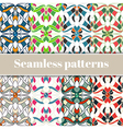 Abstract multicolored seamless patterns set vector image