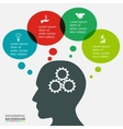 Business thinking infographics template vector image