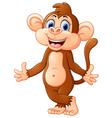 Cartoon monkey presenting vector image
