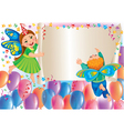 Holiday background with kids butterflies vector image