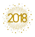 2018 gold firework on white background vector image vector image