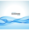 Abstract blue wave isolated on white background vector image vector image