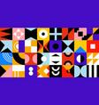 abstract geometric tiles pattern bauhaus stylish