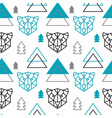abstract polygonal bear mountain and forest vector image vector image