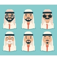 Arab Avatars Businessman Young Adult Old Retro vector image vector image
