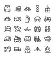 automobile line icons 2 vector image vector image