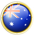 badge design for australia flag vector image vector image