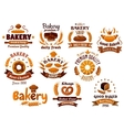Bakery emblems symbols and labels vector image vector image