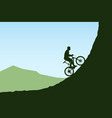 bicycle rider in mountains vector image vector image