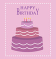 birthday card for girls vector image