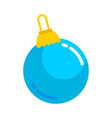 blue christmas ball graphic vector image vector image