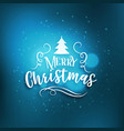 blue merry christmas greeting background with vector image vector image