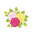 bouquet of roses poster set vector image vector image