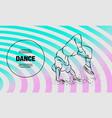 breakdancer doing a back flip the man is dancing vector image vector image