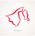 brunei - outline map vector image