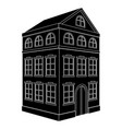building black silhouette of a residential house vector image