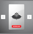 business concept idea innovation light glyph icon vector image