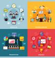 business workflow design concept vector image vector image