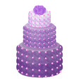 cake of purple color with rose vector image vector image