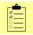 Checklist sign Flat style icon vector image vector image