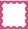 chinese fan frame vector image vector image