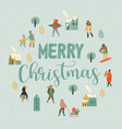 christmas and happy new year whit vector image vector image