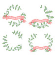 coffee branch wreath frame collection natural vector image